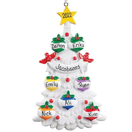 Personalized White Glitter Tree Ornament-355741