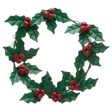 Holly and Berries Metal Wreath by Fox River Creations™-355882