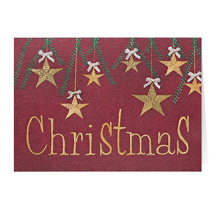 Personalized Christmas Stars Card Set of 20-355995