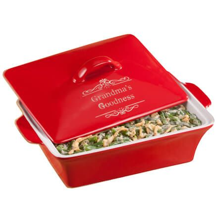Personalized Red Lidded Rectangular Baking Dish-356103