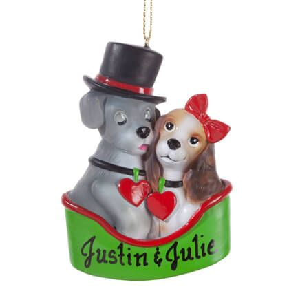 Personalized Puppy Couple Ornament-356128