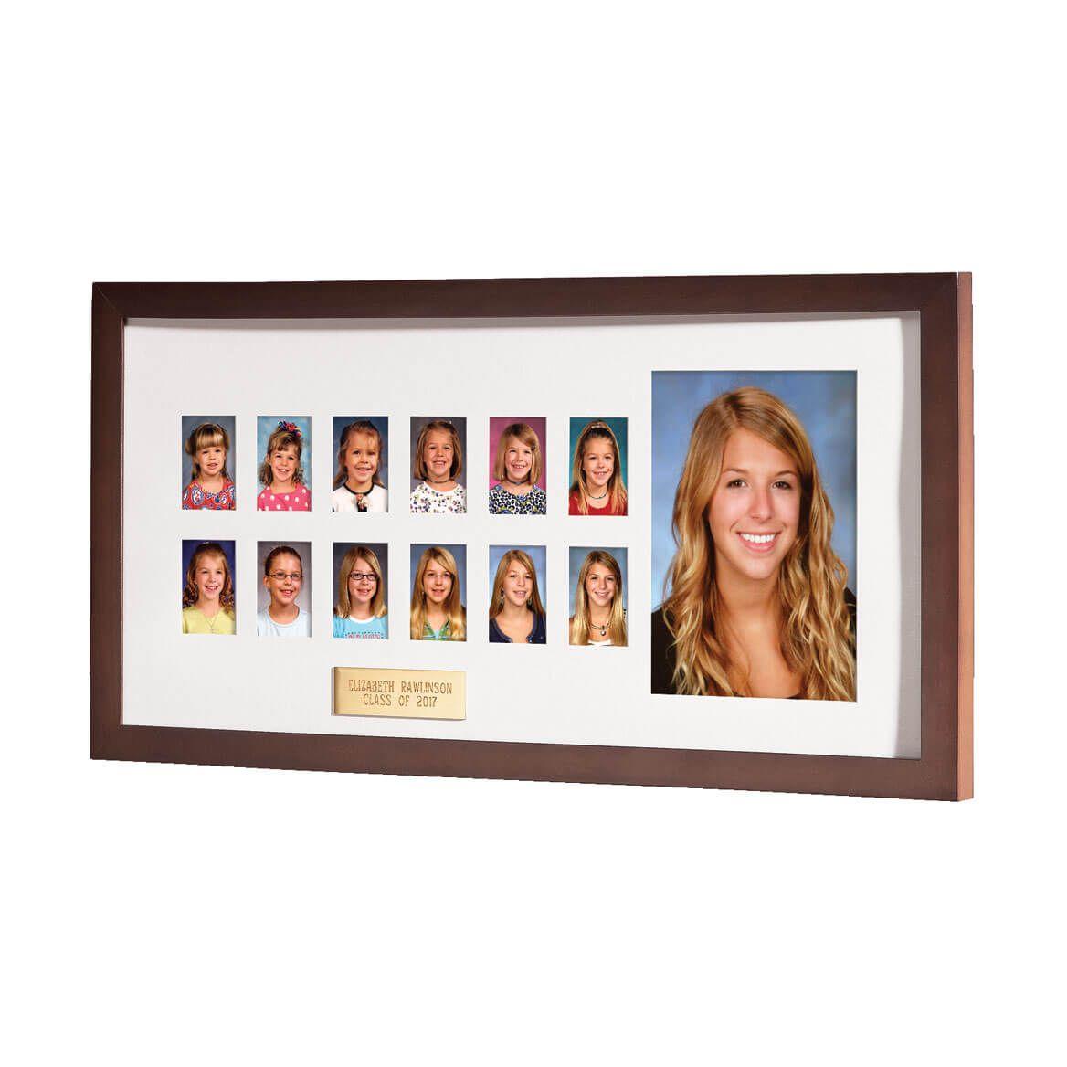 Personalized Walnut School Years Frame-356156