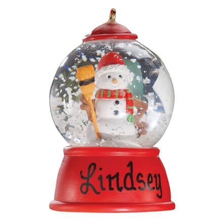 Personalized Snowman Waterglobe Ornament-356232