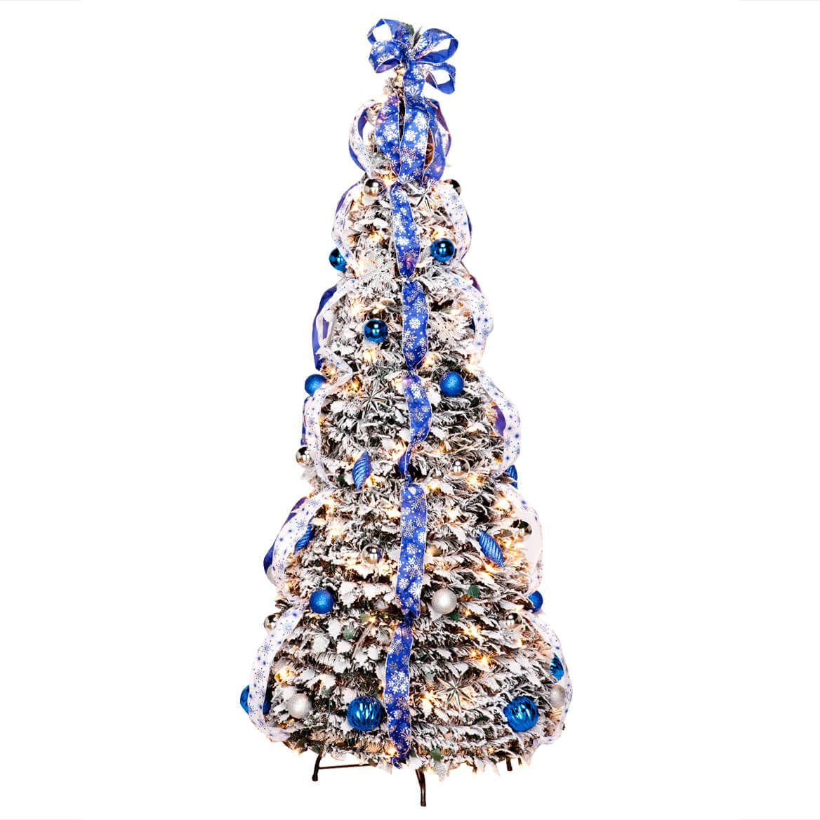 6' Snow Frosted Winter Style Pull-Up Tree by Holiday Peak™-356287