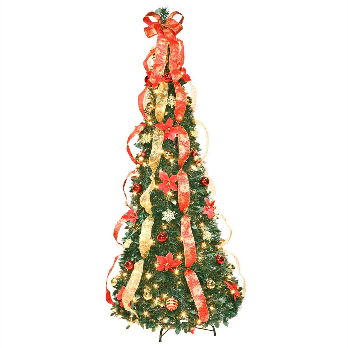 6' Red Poinsettia Pull-Up Tree by Holiday Peak™     XL-356297
