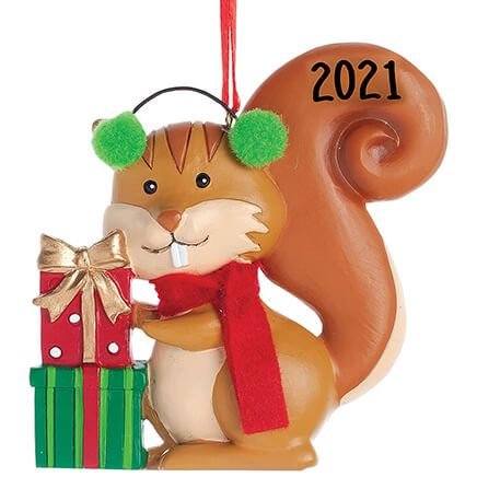 Woodland Squirrel Ornament-356350