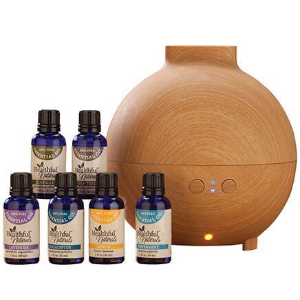 Healthful™ Naturals Essential Oil Starter Kit & 600 ml Diffuser-356535