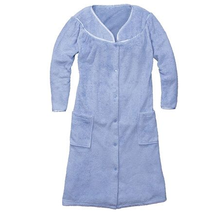 Snap-Front Fleece Robe with Pockets by Sawyer Creek-356691