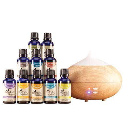 Healthful™ Naturals Premium Essential Oil Kit & 280 ml Diffuser-356694