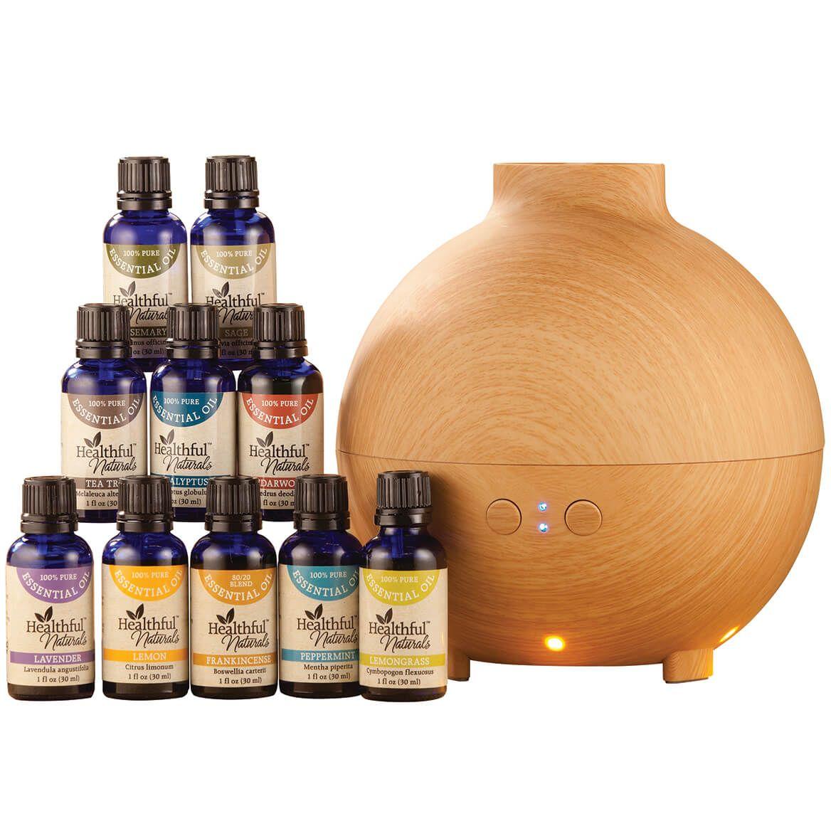 Healthful™ Naturals Premium Essential Oil Kit & 600 ml Diffuser-356695