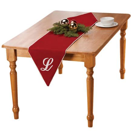 "72"" Monogramed Red Velvet Table Runner-356708"
