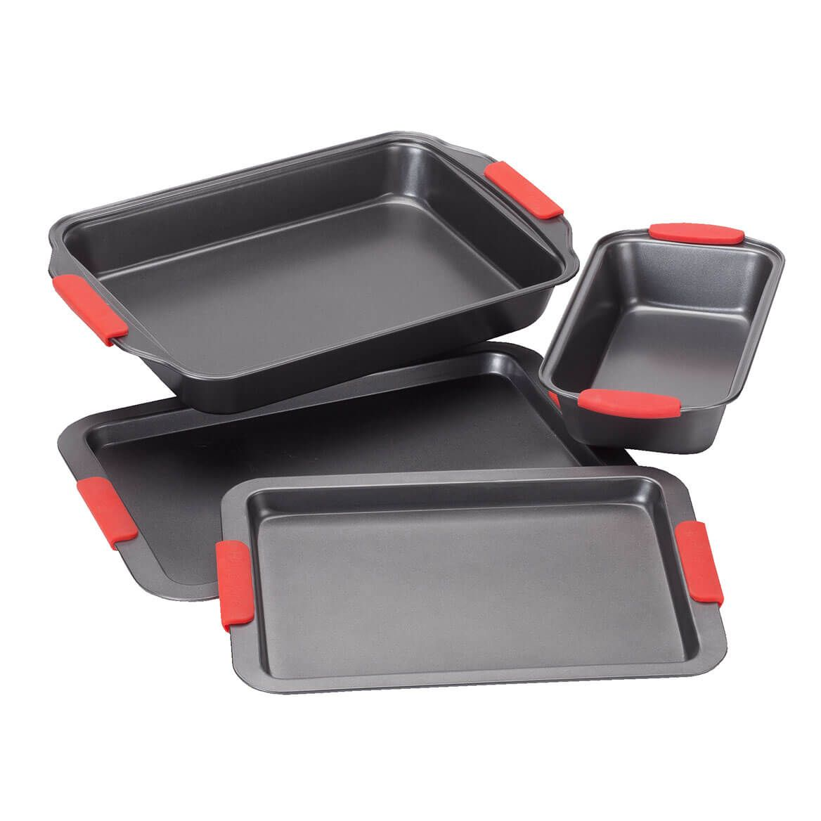 Cook's Essentials 4-Pc. Baking Set with Red Silicone Handles by Home-Style Kitchen™-356760