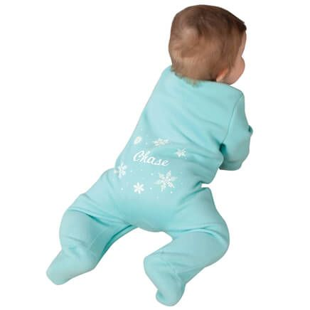 Personalized Snowflake Baby Sleeper-356832