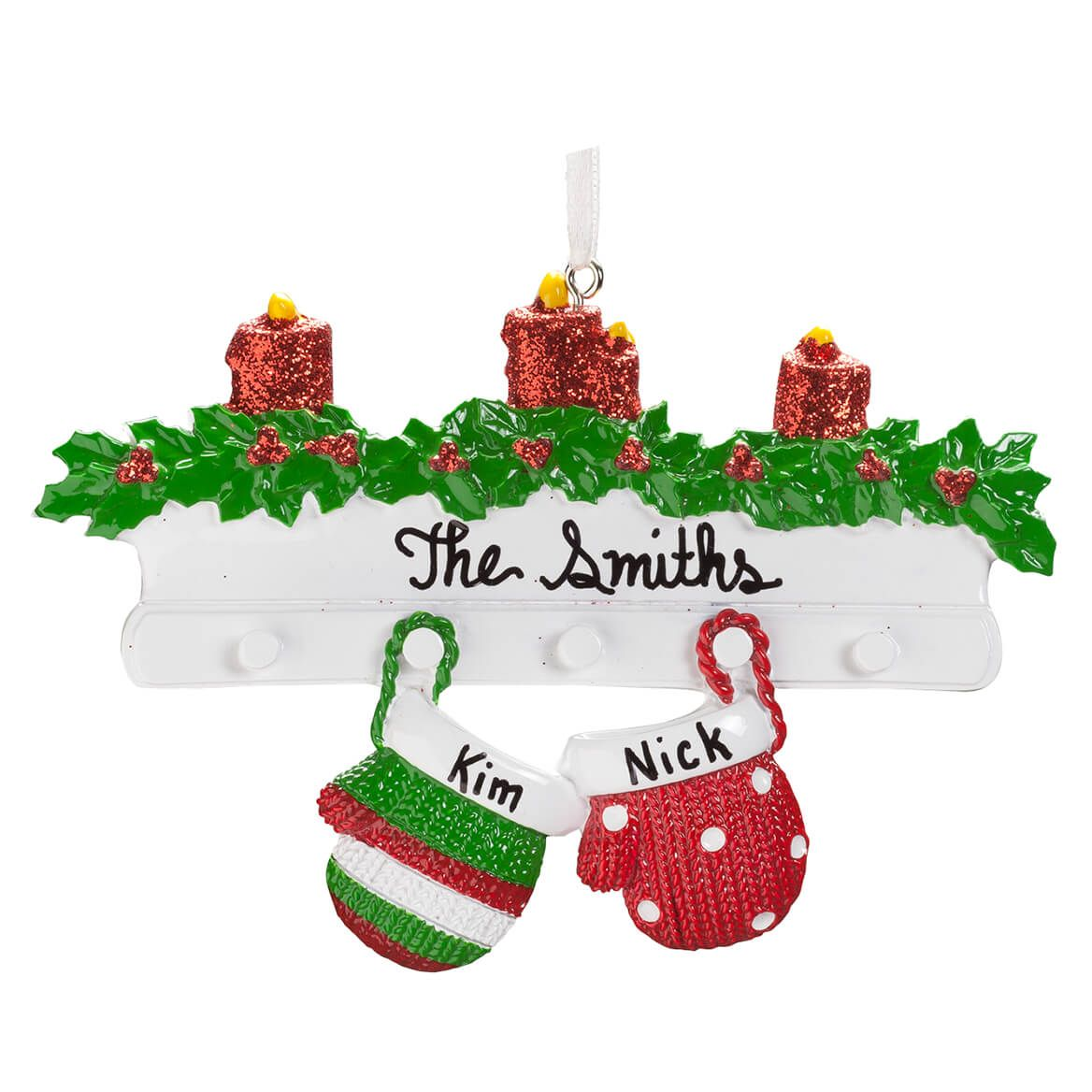 Personalized Family Mittens Ornament-356912