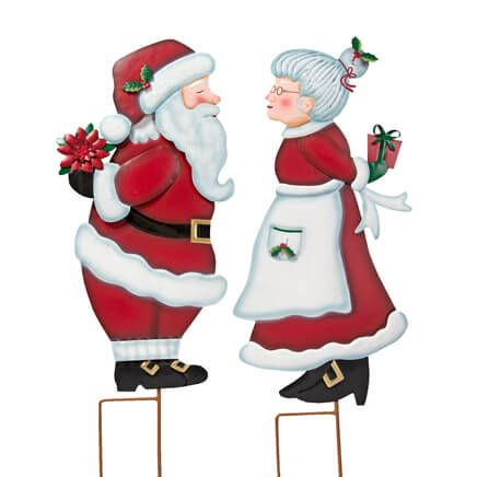 Kissing Santa & Mrs. Claus Stake by Fox River Creations™-356916