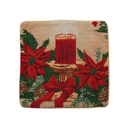 Christmas Candle Pillow Cover-356917