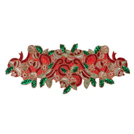 Deck the Halls Beaded Table Runner Centerpiece-356982