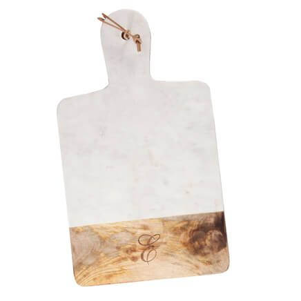Personalized Marble and Wood Cutting Board-357140