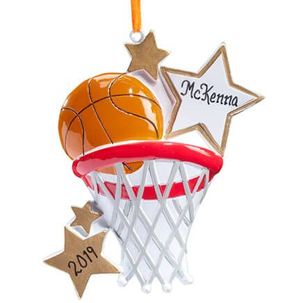 Personalized Basketball Star Ornament-357182