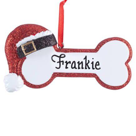 Personalized Santa Dog Bone Ornament-357187