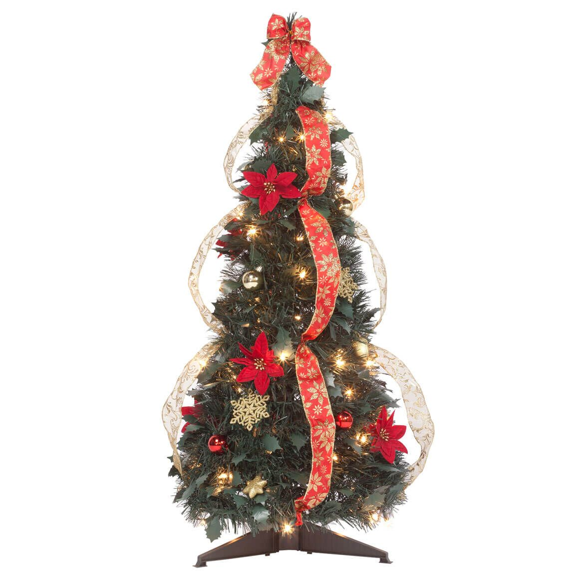3' Red Poinsettia Pull-Up Tree by Holiday Peak™-357692