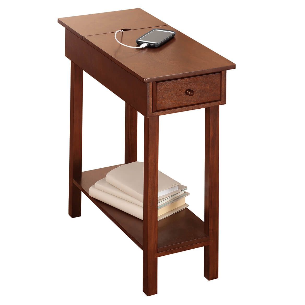 Chairside Table with USB Power Strip by OakRidge™  XL-358129