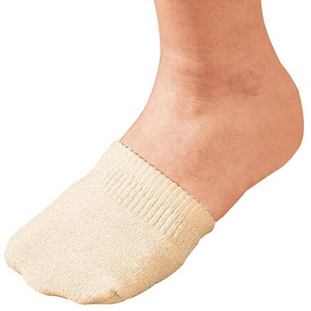 Toe Half Socks 2 Pair - Natural-358149