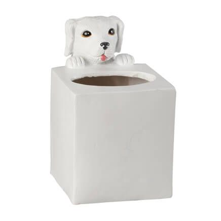 Playful Dog Tissue Box Holder by OakRidge™-358237