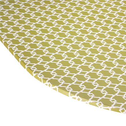 Lattice Vinyl Elasticized Tablecover-358458