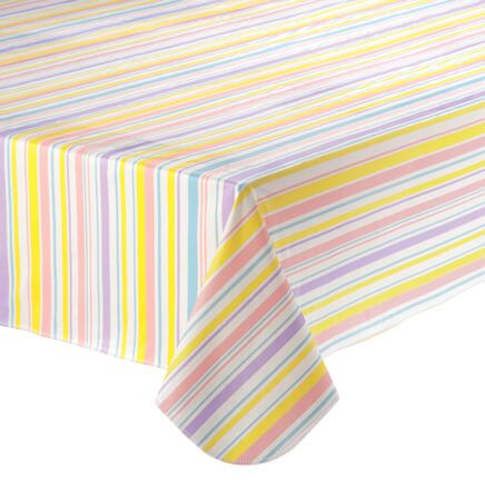 Easter Stripe Vinyl Table Cover-358530