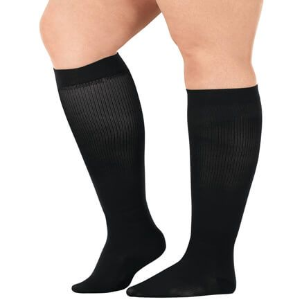 Silver Steps™ Wide Calf Compression Socks, 15–20 mmHg-358895