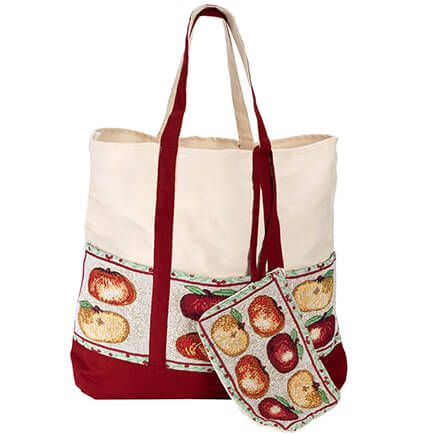 Harvest Tapestry Tote with Wristlet-359399