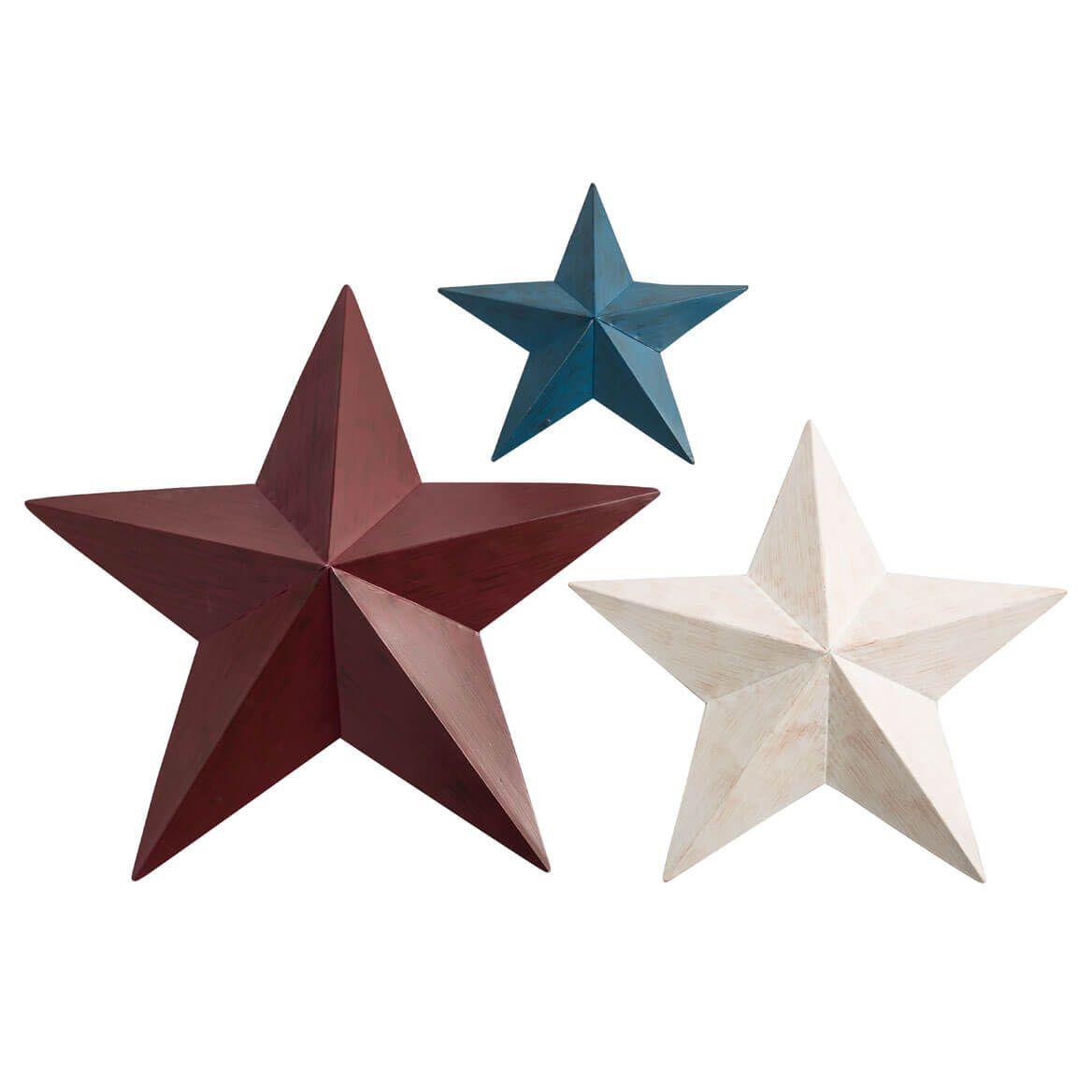 Red, White, Blue Barn Stars Set/3 by Fox River Creations™-359456