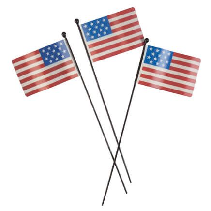 Metal American Flag Planter Stakes by Fox River™ Creations, Set of 3-359517