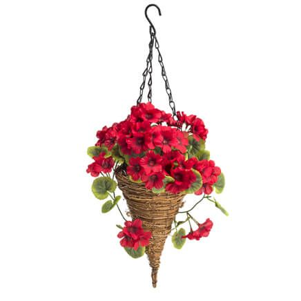 Fully Assembled Geranium Cone Basket by OakRidge™-359775