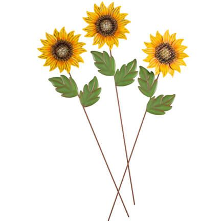 Sunflower Stakes Set of 3 by Fox River Creations™-360060