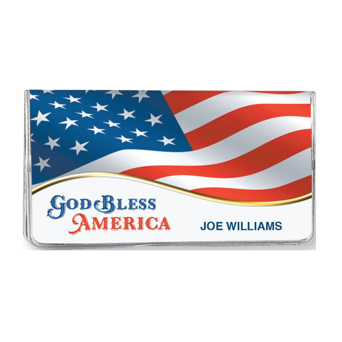 Personalized 2 Yr Planner God Bless America Flag-360113