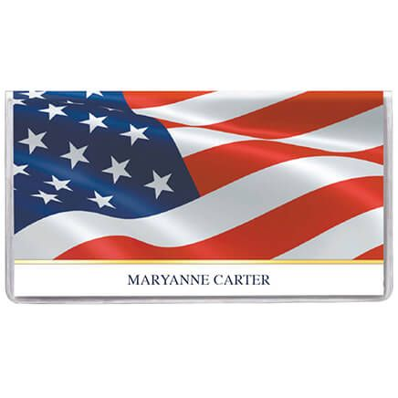 Personalized 2 Yr. Planner Patriotic Waving Flag-360130