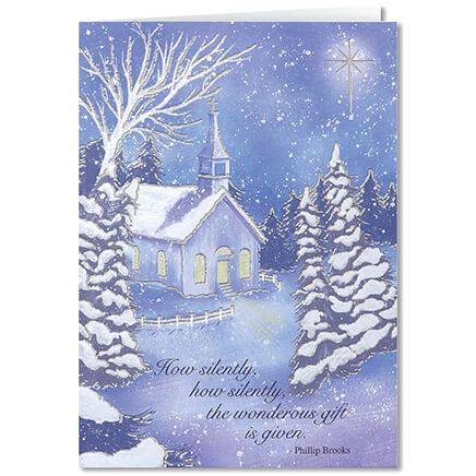 Personalized Twilight Chapel Christmas Card Set of 20-360217