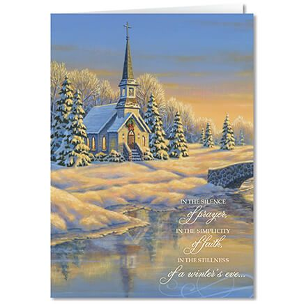 Personalized Reflection of Winter's Eve Card Set of 20-360227