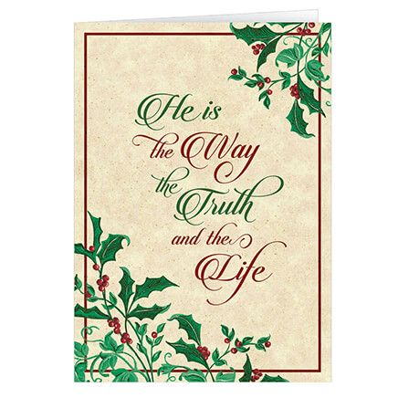 Personalized He is the Way Christmas Card Set of 20-360229