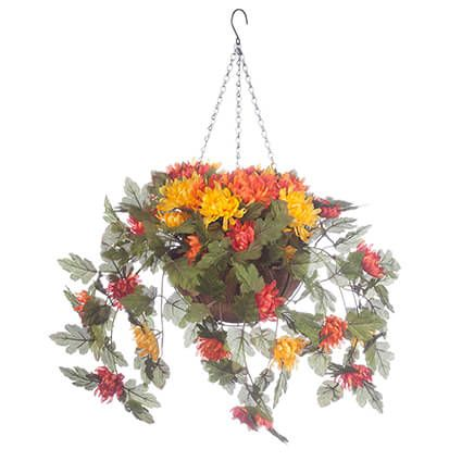 Fully Assembled Hanging Mum Basket by Oakridge Outdoor™-360308