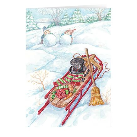 Wintertime Fun Non- Personalized Christmas Card set of 20-360454