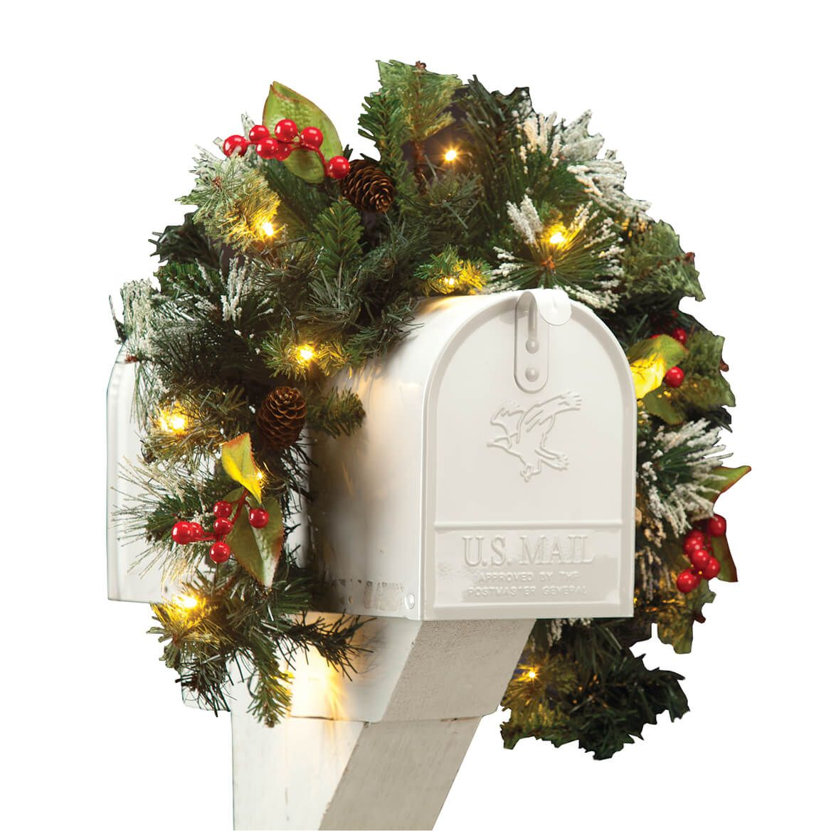 Lighted Mailbox Swag-360584