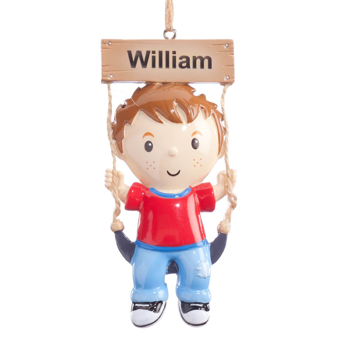 Personalized Child on Swing Ornament-360693