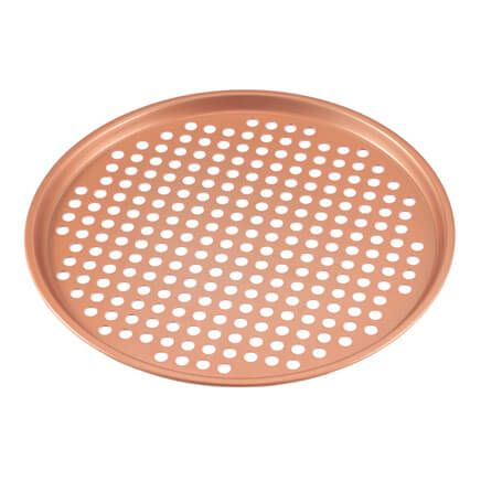 "12 1/2"" Ceramic Copper Pizza Pan-360742"