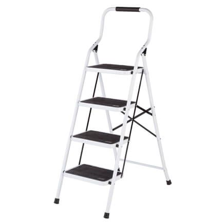 Folding Four Step Ladder by LivingSURE™-360949
