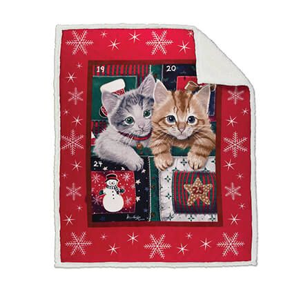 Holiday Micro Plush Throw Blanket with Sherpa Back-361066
