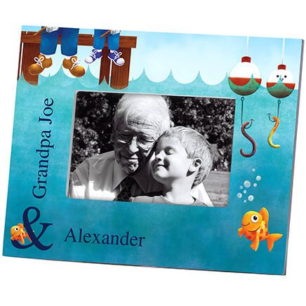 Personalized Gone Fishing Decorative Photo Frame-361175