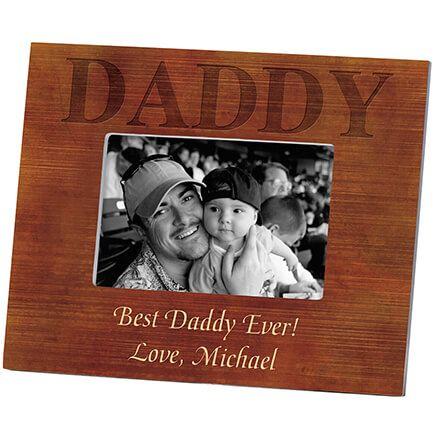 Personalized Woodgrain Daddy Frame-361179